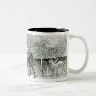 Camel Mill, from 'Travels in Africa' Two-Tone Coffee Mug