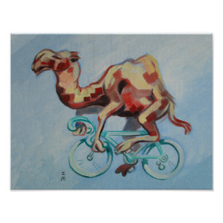 Camel On A Bicycle Poster