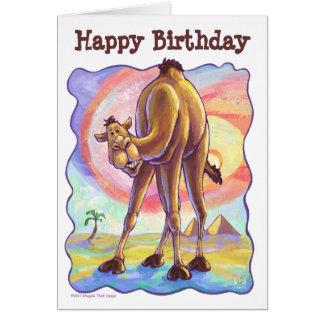 Camel Party Center Card