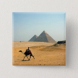 camel pyramid 15 cm square badge