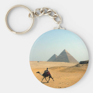 camel pyramid basic round button key ring