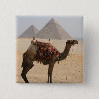 camel pyramids 15 cm square badge