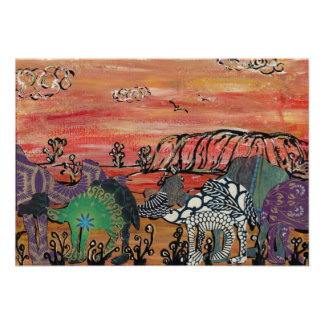 Camel Racing in the Outback print