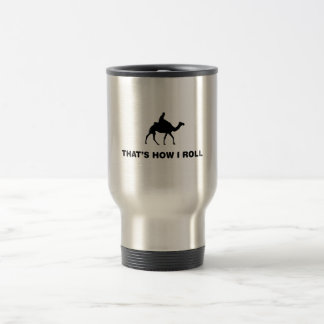 Camel Riding 15 Oz Stainless Steel Travel Mug