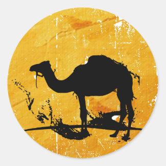 Camel Round Sticker