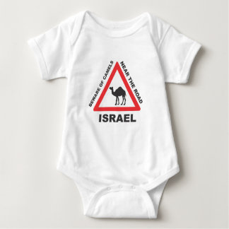 Camel Sign in Israel Baby Bodysuit