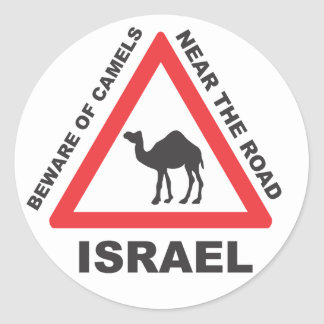 Camel Sign in Israel Classic Round Sticker