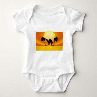 Camel silhouette baby bodysuit