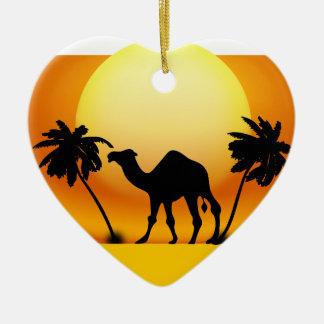 Camel silhouette christmas ornament
