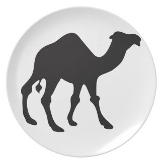 Camel Silhouette Plate