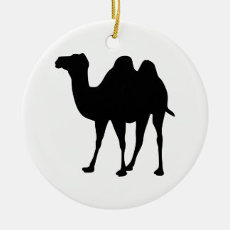 Camel Silhouette Round Ceramic Decoration