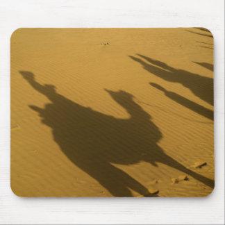 Camel silhouettes on sand dunes, Thar Desert, Mouse Mat