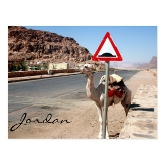 camel speed hump post card