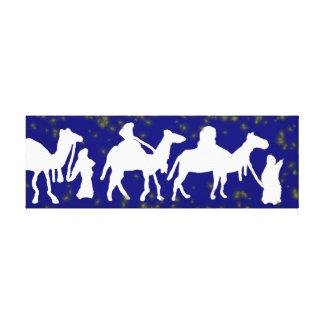 Camel Trek Stretched Canvas Prints