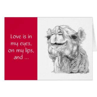 Camel Valentine's Day Card