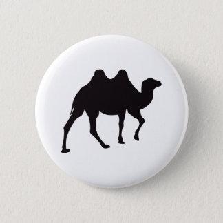Camel Vintage Wood Engraving 6 Cm Round Badge