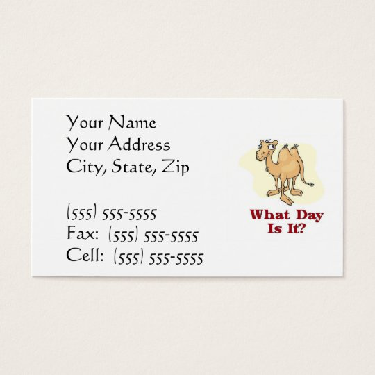 Camel - What Day Is It? Business Card