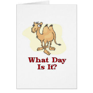 Camel - What Day Is It? Card