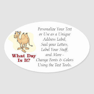 Camel - What Day Is It? Oval Sticker