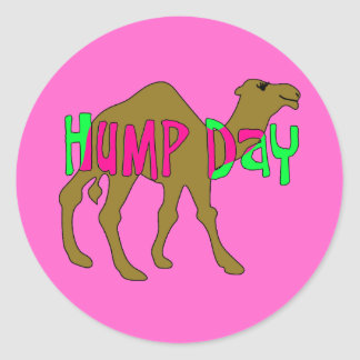 Camel with Hump Day in Pink and Green Stickers