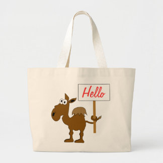 Camel With Sign Bag