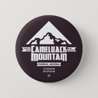 Camelback Mountain (Dark) - Button