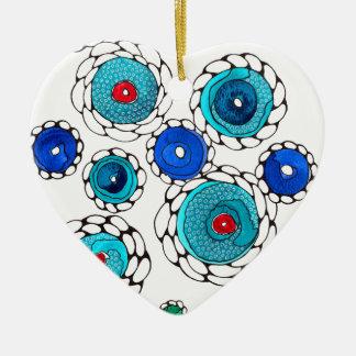 camelias ceramic heart decoration