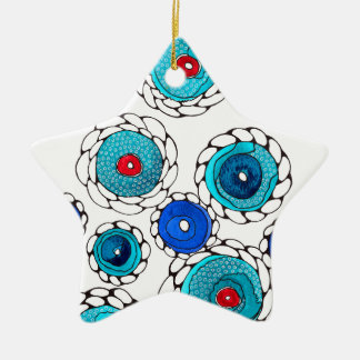 camelias ceramic star decoration