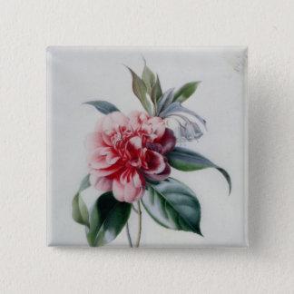 Camellia 15 Cm Square Badge