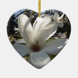 Camellia Blosson Ceramic Heart Decoration