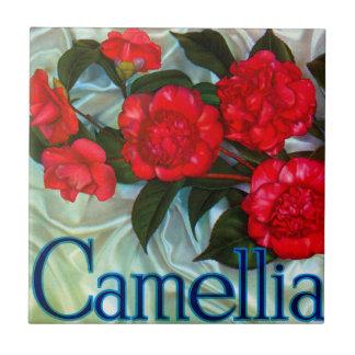 Camellia Brand Orange Label Small Square Tile