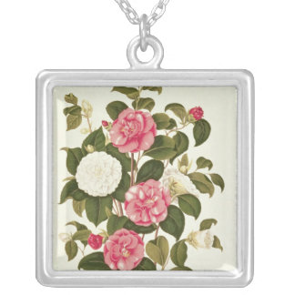 "Camellia  from ""A Monograph on the Genus' Silver Plated Necklace"