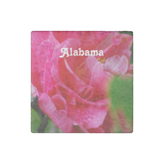 Camellia in Alabama Stone Magnet