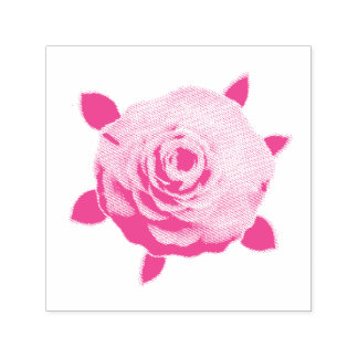 Camellia Self-inking Stamp