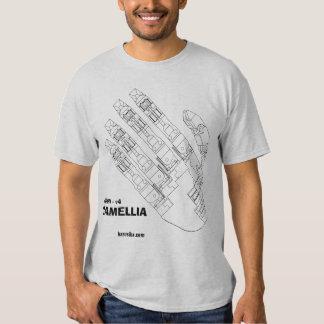 """CAMELLIA - """"The hand T-shiyatsu of machine"""" Tee Shirt"""