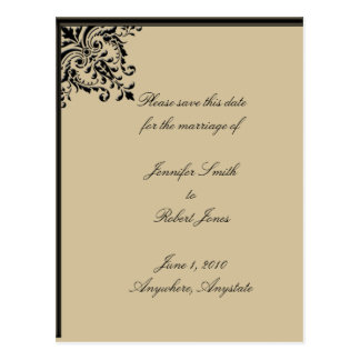 Camelot Gold Save the Date postcard
