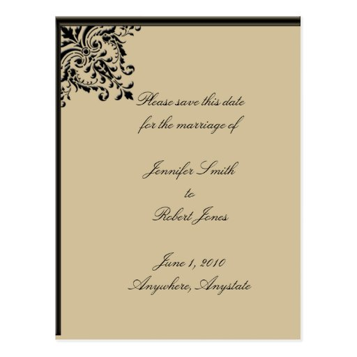 Camelot Gold Save the Date, postcard