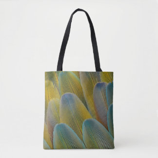 Camelot Macaw Feather Abstract Tote Bag
