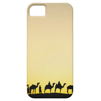 Camels and camel driver silhouetted at sunset, 4 barely there iPhone 5 case