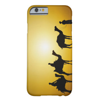 Camels and camel driver silhouetted at sunset, barely there iPhone 6 case