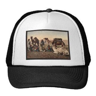 Camels halting in the desert Holy Land vintage Ph Hats