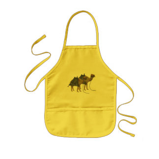 Camels in the desert kids apron