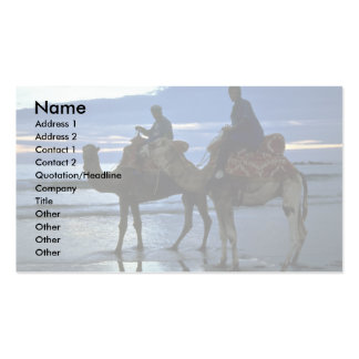 Camels Morocco Business Card Templates