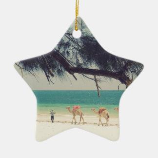 Camels' Ride Ceramic Star Decoration