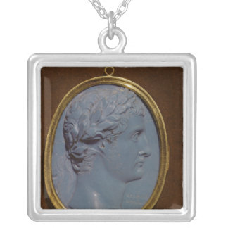Cameo bearing the profile of Tiberius Silver Plated Necklace