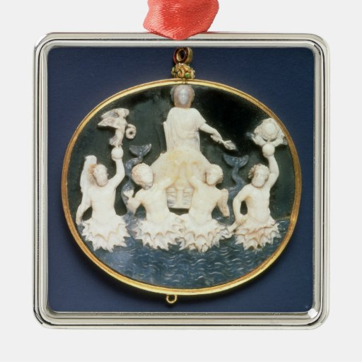 Cameo commemorating the Naval victory of Silver-Colored Square Decoration