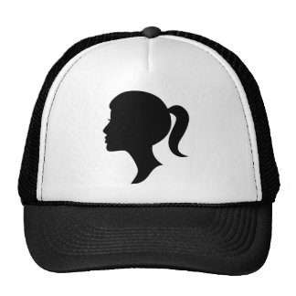 Cameo Silhouette Girl Cap