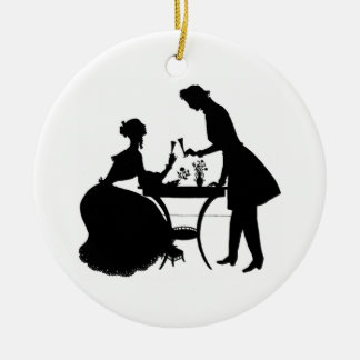 Cameo Victorian Couple Christmas Ornament