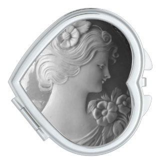 Cameo - vintage jewelry makeup mirror