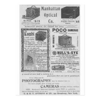 Camera ads postcards